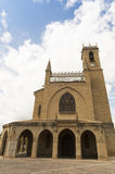 Obanos church, road to Santiago de Compostela, Navarre Stock Photography
