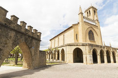 Obanos church, road to Santiago de Compostela, Navarre Royalty Free Stock Images