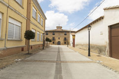 Obanos city in north, road to Santiago de Compostela, Navarre Stock Images