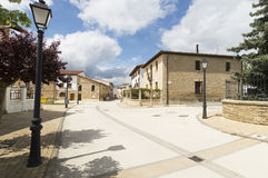 Obanos city in north, road to Santiago de Compostela, Navarre Stock Photography