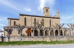 Obanos-Kirche in Pamplona Spanien lizenzfreie stockfotos