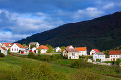 Obarba village in Navarra near Irati Pyrenees Royalty Free Stock Photography
