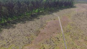 OBARY, Naturreservat //AERIAL-GESAMTLÄNGE stock video footage