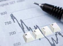 obawy inwestycyjnych Fotografia Stock