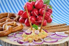 Obazda bavarese (formaggio) Fotografia Stock Libera da Diritti