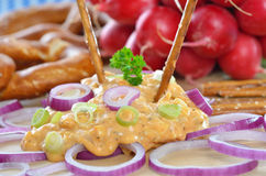 Obazda bavarese (formaggio) Fotografie Stock