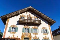 Obberamergau,德国- 2017年10月15日:传统家与 库存图片