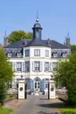 Obbicht Castle in Sittard-Geleen, Limburg, Netherlands. Front facade of Obbicht Castle in Sittard-Geleen, Limburg, Netherlands Royalty Free Stock Photography