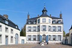 Obbicht Castle in Sittard-Geleen, Limburg, Netherlands. Front facade of Obbicht Castle in Sittard-Geleen, Limburg, Netherlands Stock Photography