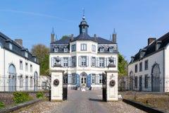 Obbicht Castle in Sittard-Geleen, Limburg, Netherlands. Front facade of Obbicht Castle in Sittard-Geleen, Limburg, Netherlands Royalty Free Stock Photo