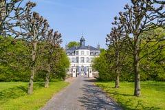 Obbicht Castle in Sittard-Geleen, Limburg, Netherlands. Front facade of Obbicht Castle in Sittard-Geleen, Limburg, Netherlands Royalty Free Stock Photos