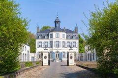 Obbicht Castle in Sittard-Geleen, Limburg, Netherlands. Front facade of Obbicht Castle in Sittard-Geleen, Limburg, Netherlands Stock Images