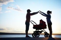 Obbligazione di Parent?s Fotografia Stock Libera da Diritti