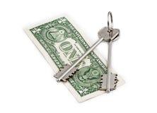 Obbligazione di tasto dei soldi fotografia stock