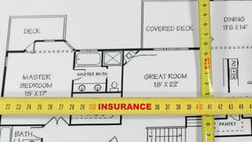 Obbligazione ed assicurazione della casa Immagini Stock Libere da Diritti