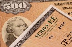 Obbligazioni di risparmio dell'EE di serie Fotografie Stock Libere da Diritti