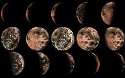 Obca księżyc Obrazy Royalty Free