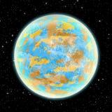 Obca planeta w przestrzeni Obraz Stock