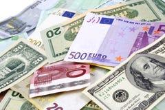 Obca waluta od różnorodnych okręg administracyjny. Obrazy Stock