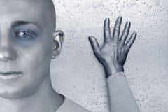 obcego extraterrestrial futurystyczna mężczyzna srebra skóra obrazy stock