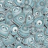 Obcego i potworów bezszwowy wzór ilustracja wektor