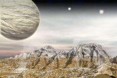 Obcego krajobraz ilustracja wektor