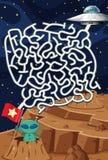 Obcego labiryntu łamigłówki Astronautyczna gra royalty ilustracja