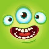 Obcego twarzy kreskówki istoty avatar wektoru ilustracyjny zapas Druki projektują dla koszulek ilustracji