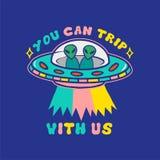 Obcego UFO druk royalty ilustracja