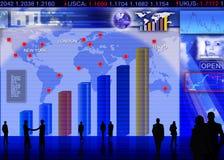 Obcej waluty wekslowego rynku scena ilustracja wektor