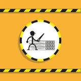 Obchodzić się stalowe drymby przygotowywa ikonę ilustracji