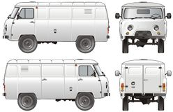 obciążenie dosyłowej ciężarówki wektora Fotografia Royalty Free
