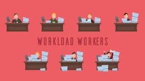 Obciążenie pracą pracownicy ilustracji
