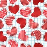 obciosujący serce papier Obraz Stock