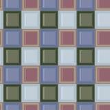 Obciosuje barwionego szklanego mozaic zieleni i błękita wektoru dachówkowego bezszwowego wzór royalty ilustracja