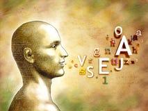 Obcojęzyczna głowa ilustracji