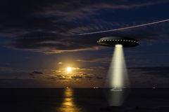 Obcy astronautyczna scena Fotografia Royalty Free