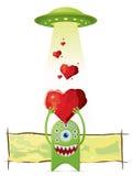 obcy daje miłości ufo ilustracja wektor
