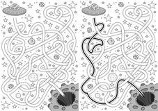 Obcy labirynt royalty ilustracja