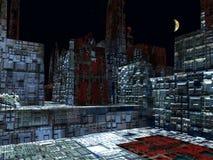 Obcy miasto - fantazj struktur 3d miastowy rendering ilustracji