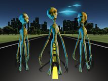 Obcy na drodze miasto ilustracja wektor