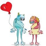 Obcy para w miłości ilustracji
