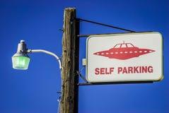 Obcy parking tylko Obraz Stock