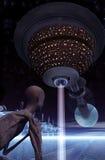 obcy powrót do domu obserwatora statek kosmiczny Obrazy Stock