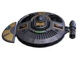 obcy statek kosmiczny royalty ilustracja