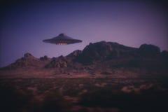 Obcy statek kosmiczny Na ziemi ilustracji