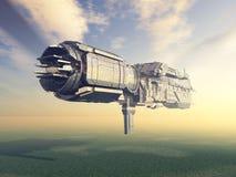 Obcy statek kosmiczny w ziemi atmosferze Zdjęcia Stock