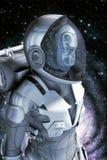 Obcy w astronautycznym kostiumu Zdjęcia Royalty Free