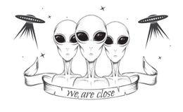 Obcy z UFO royalty ilustracja