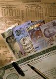 Obcych walut notatki Obrazy Stock